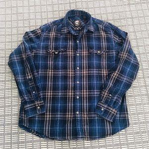 Timberland Men's Lg Button Down Shirt 100% Cotton
